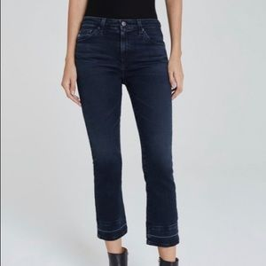 AG The Jodi Crop Hi Rise Slim Flair Raw Hem Jean